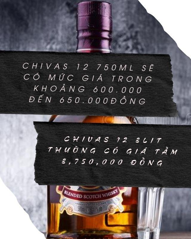 Các mức giá của rượu Chivas 12
