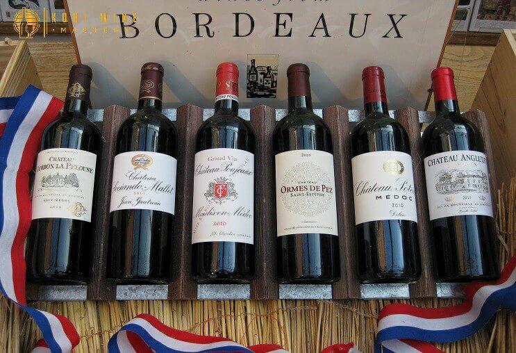 Giá rượu vang Pháp Vùng Bordeaux