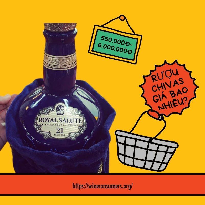 Mức giá của các loại rượu Chivas là bao nhiêu