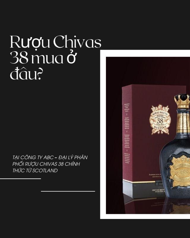 Rượu Chivas 38 mua ở đâu