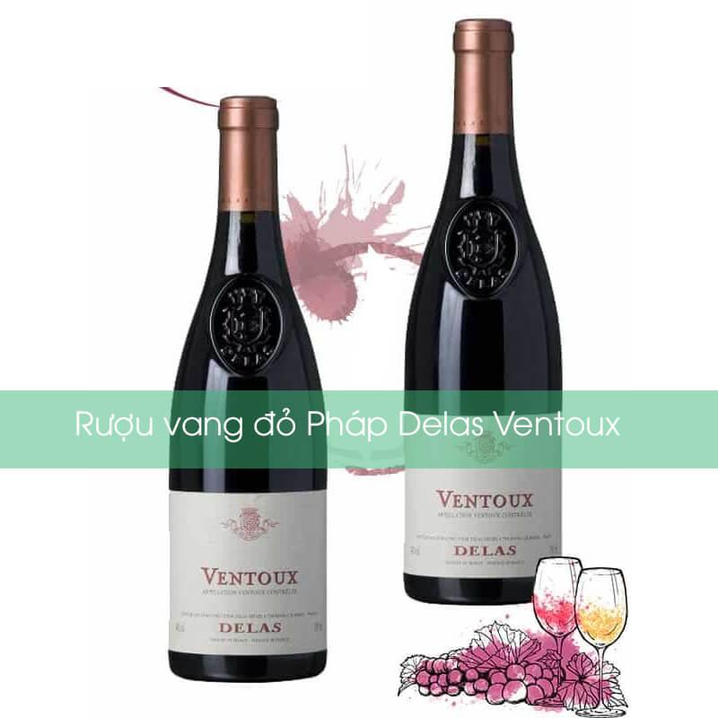 Rượu vang đỏ Pháp Delas Ventoux
