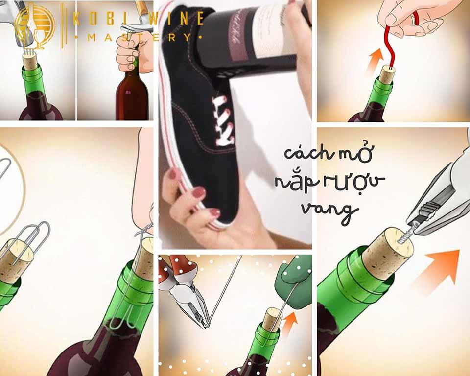 Cách mở nắp rượu vang