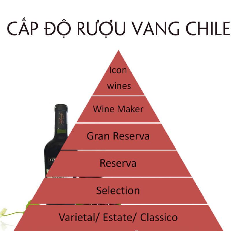 Phân loại cấp độ rượu vang Chile
