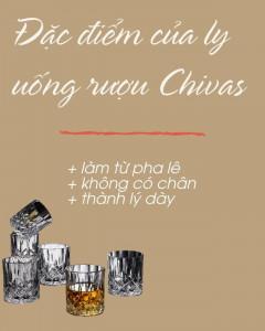 đặc điểm của ly đựng rượu chivas