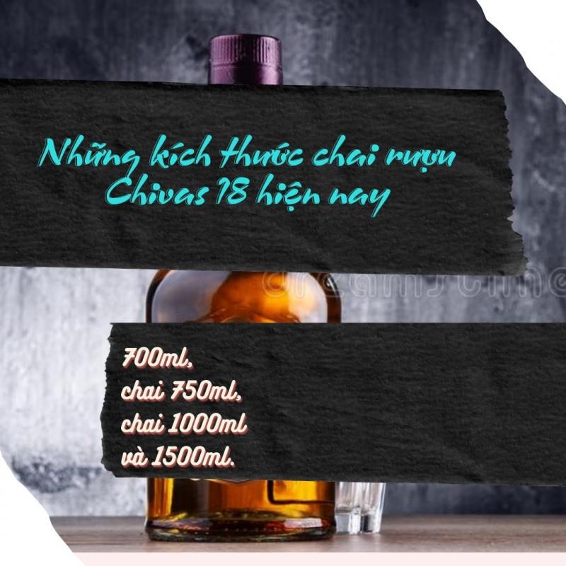 kích thước rượu chivas 18