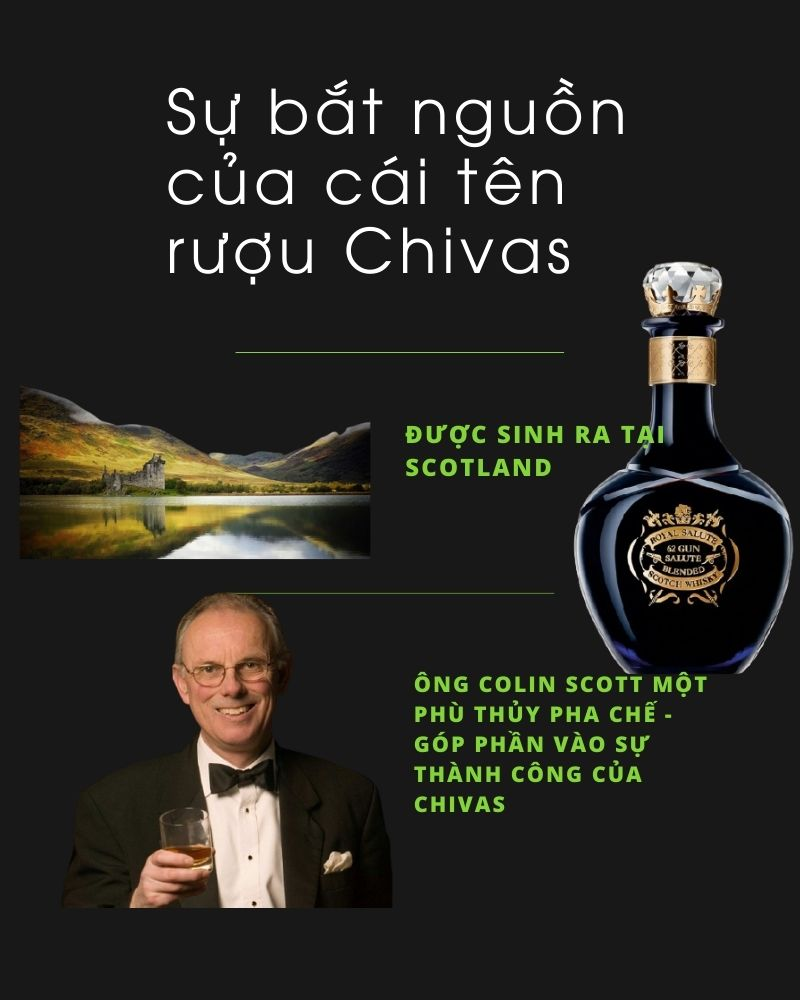 Sự bắt nguồn của cái tên rượu Chivas