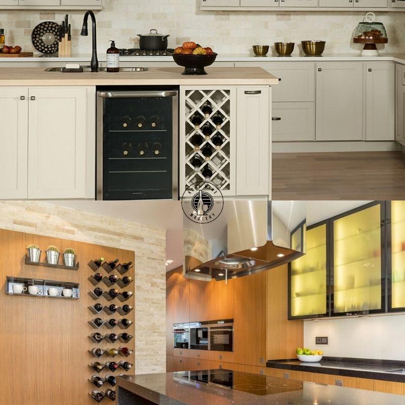 Mẫu tủ rượu vang đẹp trong phòng bếp