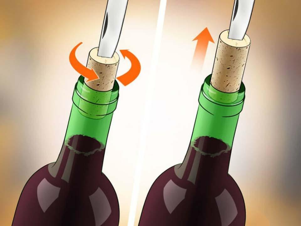 Cách mở nút rượu vang bằng dao