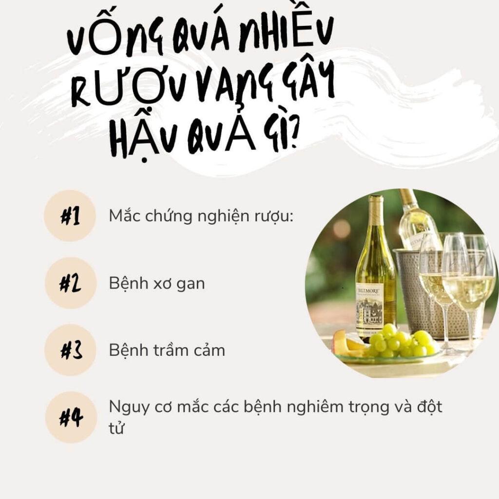 Hậu quả lạm dụng rượu vang
